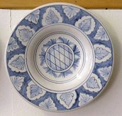 Plate with brim
