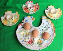 Eggcups set and egg-tray